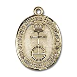 14kt Yellow Gold St. Christopher Medal 7/8 x 5/8 inches