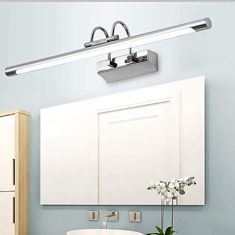 CCSUN Impermeable Led lámpara de espejo, Acero inoxidable Simple ...