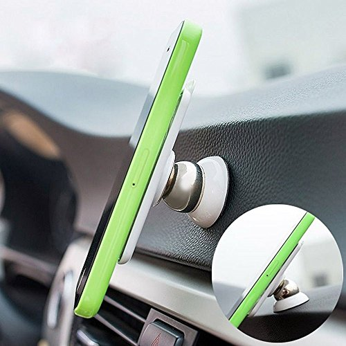 Universal 360 Degree Rotating Car Sticky Magnetic Stand Holder for iPhone - 7