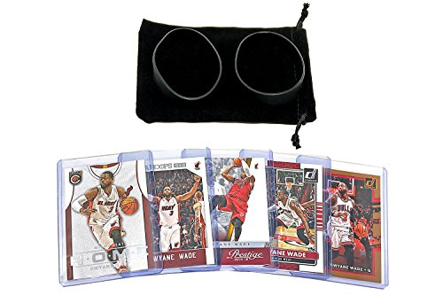 - Dwyane Wade Basketball Cards Assorted (5) Bundle - Miami Heat Chicago Bulls Trading Card Gift Pack