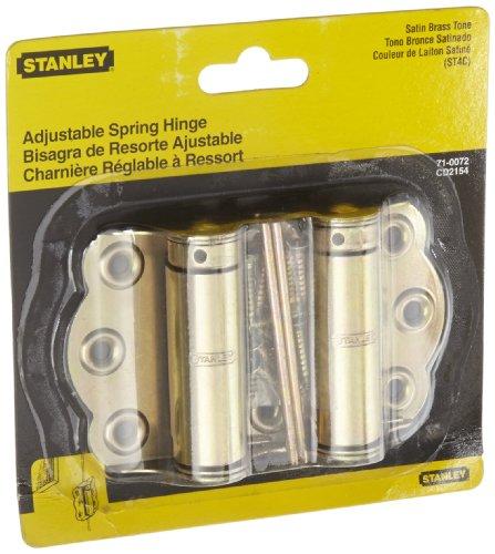 (Stanley Hardware S710-072 CD2154 Screen Door Hinge in Satin Brass Tone, 2 Pack )