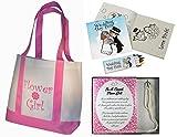Best Flower Girl Gifts Set: Tote Bag, Necklace and Bracelet Set, Wedding Day Kids Activity kits