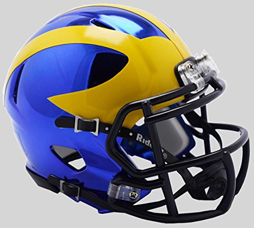 - Riddell NCAA Michigan Wolverines Unisex Michigan Wolverines Helmet Replica Mini Speed Style Chrome Alternatehelmet Replica Mini Speed Style Chrome Alternate, Team Colors, One Size