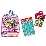 Shopkins Backpack w Heart Shape Pocket, 20 Pc Shopkins Bandages & 100 Stickers by ArtsSpecialsInc