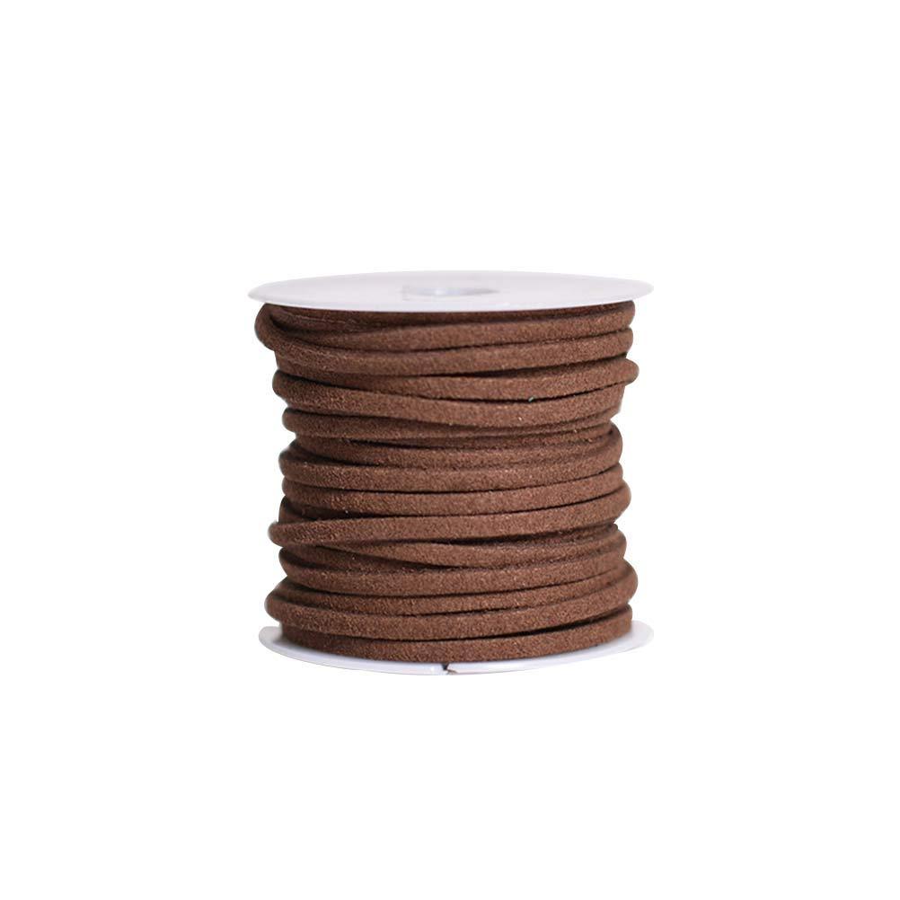 Healifty 4pcs Leather Cord String 5m (Dark Coffee, Black, Light and Grey)
