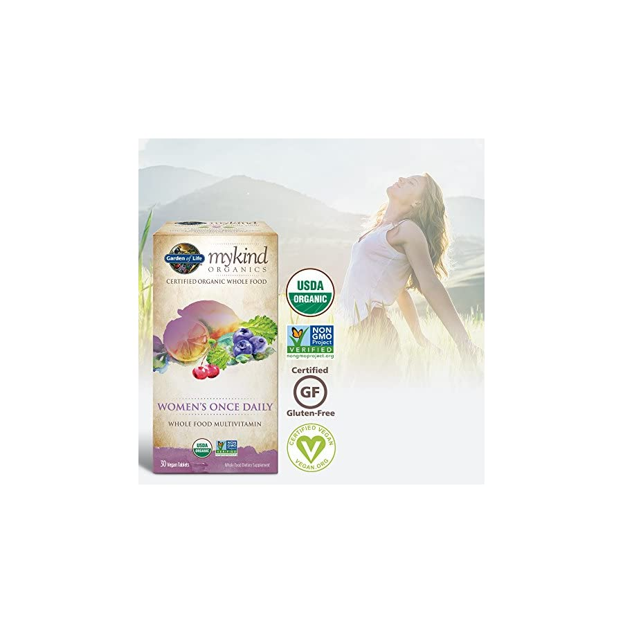 Garden of Life Kind Organics Women's Once Daily Multi Tablets