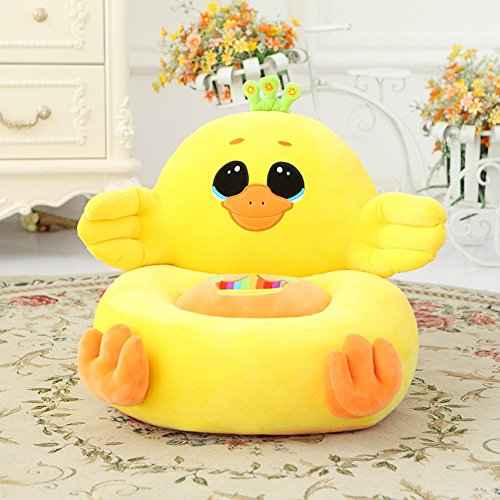MeMoreCool Well-designed Kids Sofa,Cartoon Yellow Duck Children Plush Cartoon Sofa,Baby/Kids Chair for Christmas/Children's day Gift