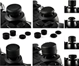 xbox 360 extras - Gizmoz n Gadgetz GNG 8 x Soft Rubber Thumb Grips Black Thumbstick Joystick Extra High Enhancements Cover Caps Skin For Sony Play Station 4 PS4 PS3 Xbox 360 XBOX One