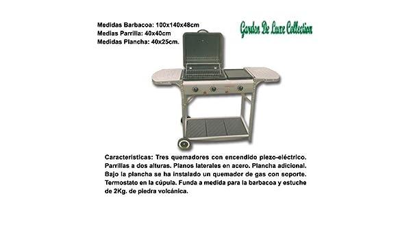 GRILINO - Barbacoa De Gas Cook Grill Para Jardin: Amazon.es: Jardín