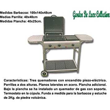 GRILINO - Barbacoa De Gas Cook Grill Para Jardin: Amazon.es ...