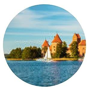 alfombrilla de ratón Castillo de Trakai conocida - ronda - 20cm