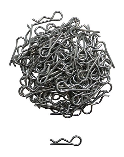 1/16 Small RC Car/Truck/Buggy Galvanized Steel Body Clips - 100 PACK - Apex RC Products #4025