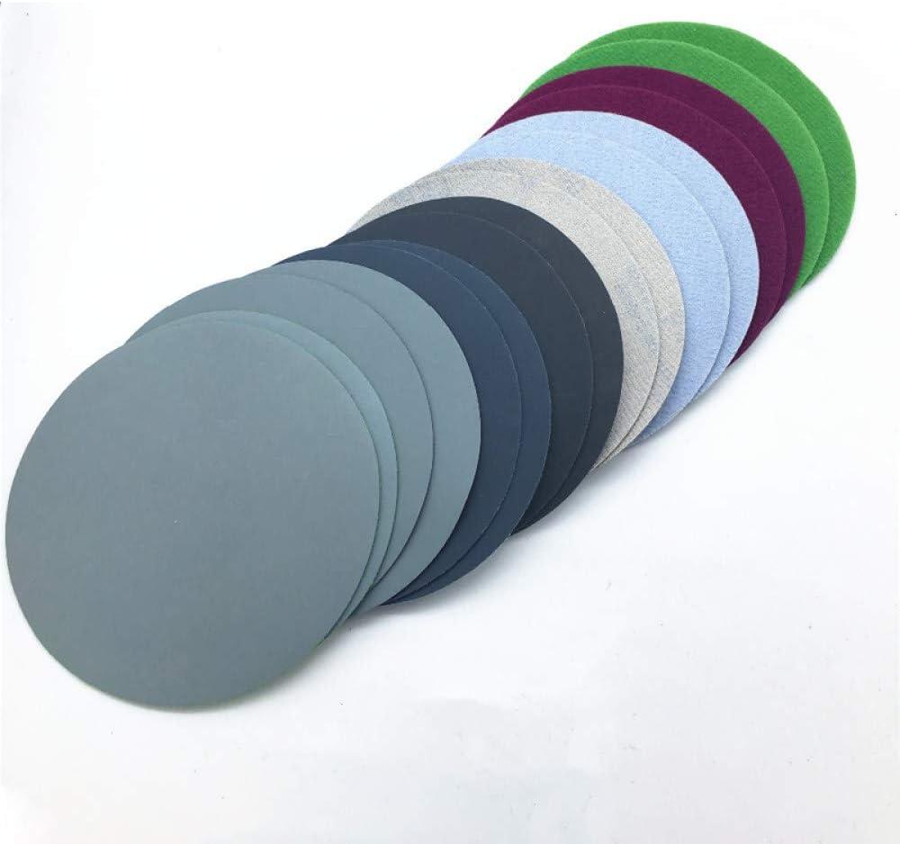 Color aleatorio HNLZGL 20Pcs 75mm 800 //// 1500//2000//3000 Almohadilla de pulido de grano Discos de lijado en seco de agua Hoja Papel de lija papeles abrasivos