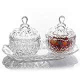 Gibson Home Jewelite Twin Bowl Set with Tray, Glass