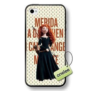Disney Brave Princess Merida Soft Rubber(TPU) Phone Case & Cover for iPhone 4/4s - Black