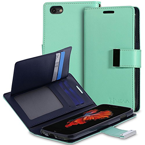 iPhone 6S Wallet Case - VENA [vDiary] Slim Tri-Fold Leather Wallet Case with Stand Flip Cover for Apple iPhone 6S / iPhone 6 (4.7