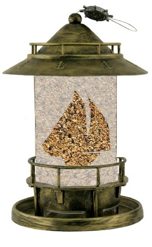 Antique Brass Seed Tube Feeders (Perky-Pet N02 Marque 2.75-Pound Wild Bird Seed Feeder)