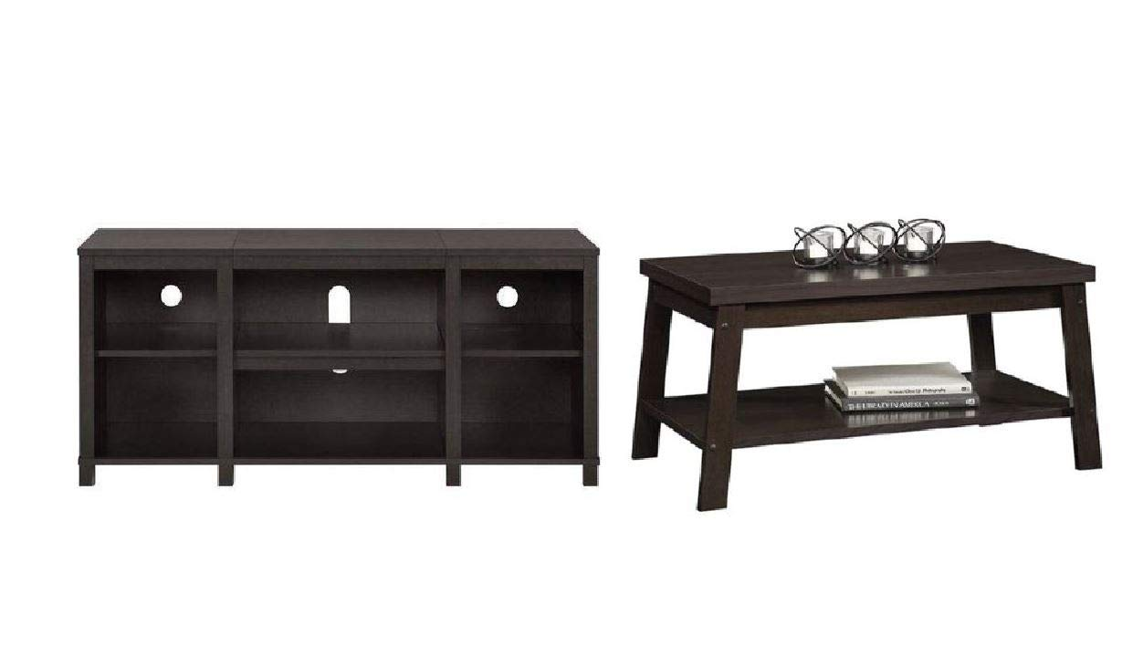 Mainstay Coffee Table.Amazon Com Mainstay Parsons Cubby Tv Stand In Espresso Ship To Home
