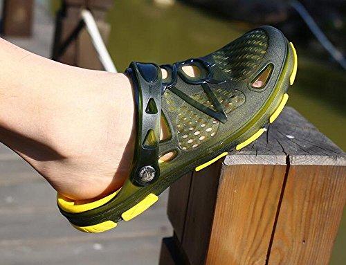 Mens Clogs Lightweight Non Slip Garden Kitchen Hospitcal Beach Yard Pool Shower Summer Sandals Black Yellow Blue UK6.5-10