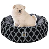 Nunubee Oval Soft Animal Bed Pet Dog Bed Soft Animal Bed Kennel Pet Nest Cat Bed Pad Pet Dog Cat Bed Waterloo Blue Gray Small Large (S, Stripe) For Sale