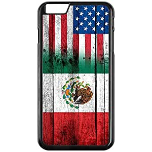 Case for iPhone 6 PLUS - Flag of Mexico - Wood/USA