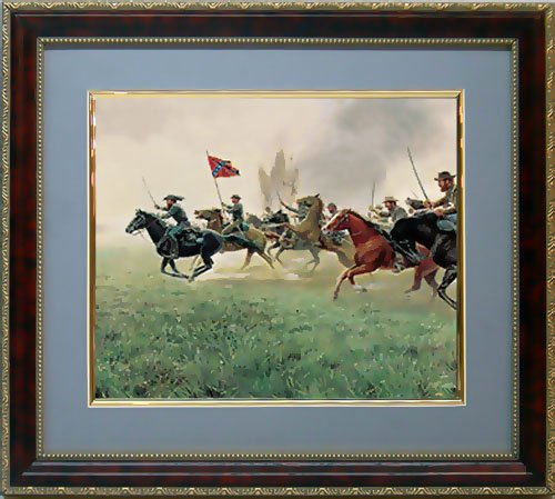 Keep Your Sabers Men Framed Print Civil War Art By Mort - South Hampton Glasses