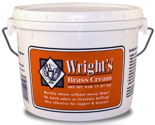 Wright's Brass Cream - Gently Clean and Remove Tarnish Without Scratching - 4 lb. ()