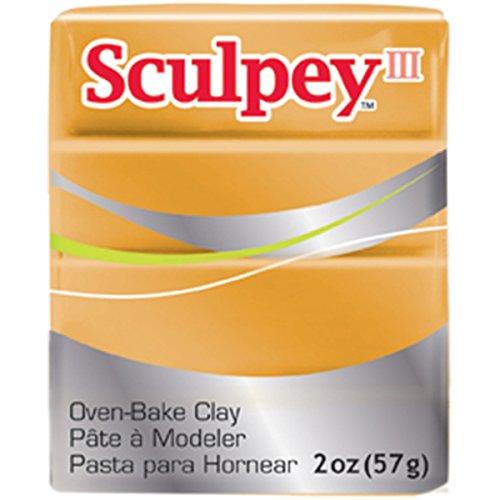 Sculpey Iii Polymer Clay 2oz-Gold