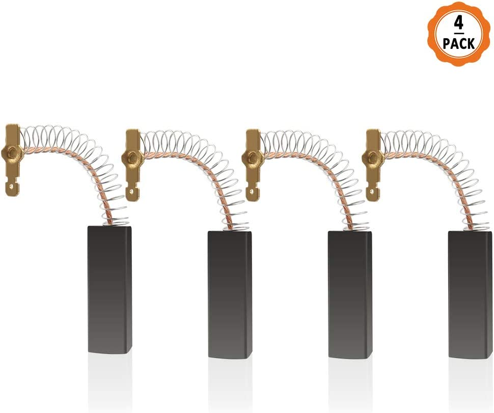 4pcs Escobillas de Carbón Motor de Carbón, 12.5 x 5 x 36 mm Motores con Cepillo de Carbón Compatible con Motor para Lavadora de Bosch Siemens