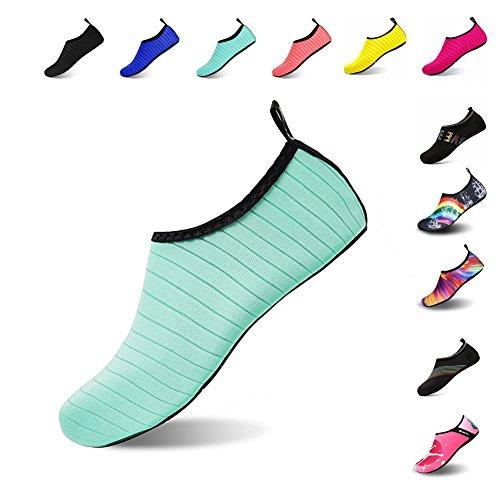 Womens Socks Barefoot Water Pool Beach Shoes Surf Green for Swim Quick Mens Aqua Sport MENG Water Yoga Dry Shoes NING TqOEXwO