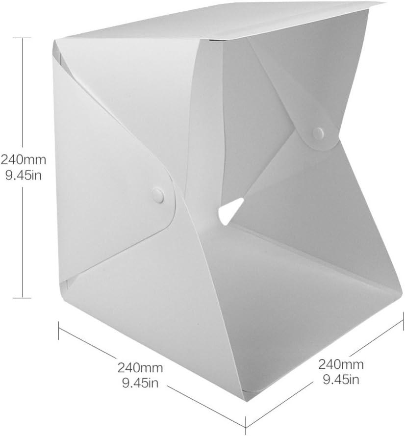 OUYAWEI LED Folding Lightbox Photo Studio LED Desktop Studio Portable Photography Lightbox