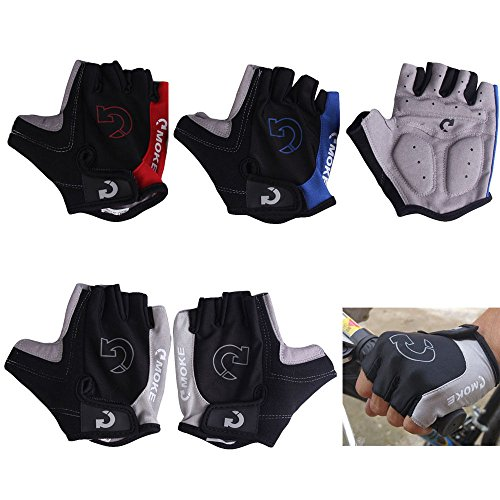 Cycling Gloves Bicycle Motorcycle Sport Gel Half Finger Gloves : Gray : Size S