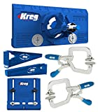 Kreg Drawer Slide Mounting Tool, Cabinet Hardware Jig, Hinge Jig, & 2 Face Clamps