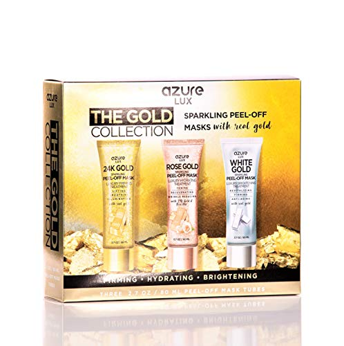 24k Gold Set - Gold Peel Off Face Mask Gift Set Collection - 24K | Rose Gold | White Gold - 80ml