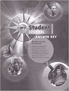 Pearson My World History, Student Journal, Answer Key