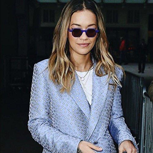 Mujer Gafas SunGlasses de Ins Plateado hexagonales para sol niña irregular ww07rP