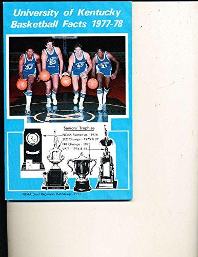 1977 - 1978 Kentucky basketball media press guide bkbx13 (Kentucky 1978 Basketball)