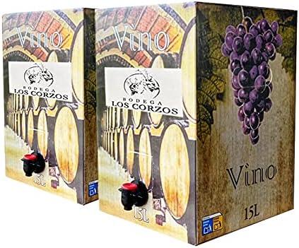 ➡️ Pack-2 Bag in Box 15L Vino Tinto Joven Cosechero 2019 (Equivalente a 40 Botellas de 750 ml),➡️ Uv