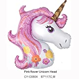 CY Mylar 43Inch Unicorn Balloon Birthday