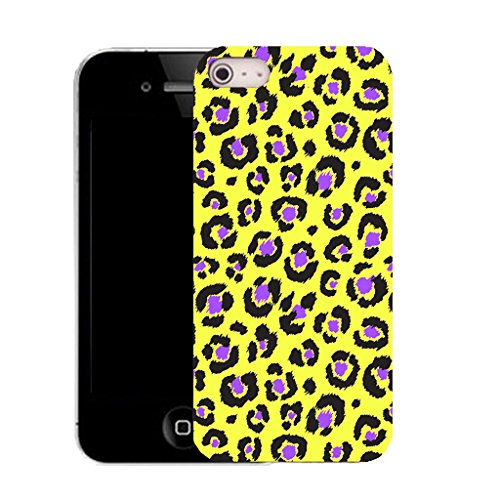 Mobile Case Mate IPhone 5S clip on Silicone Coque couverture case cover Pare-chocs + STYLET - animal yellow print pattern (SILICON)