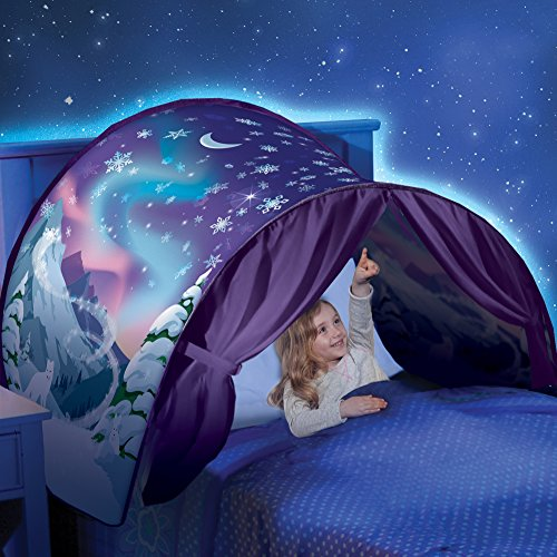 DreamTents Kids Pop Up Bed Tent Playhouse - Twin Size (Winter Wonderland)