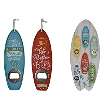 white choice of colours White - Novelty Bottle opener surfboard shape ideal christmas gift stocking filler under GBP10