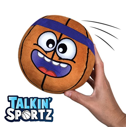 Talkin' Sports Hilariously Interactive Toy Basketball with Music and Sound FX for Kids and Toddlers by Move2Play