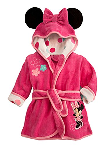 Ameny Children Kids Coral Velvet Animal Cosplay Hoody Bathrobe Cape Suit Minne Mouse 90cm / US 0-1Y Rose for $<!--$19.89-->