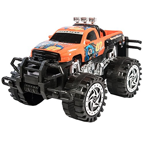 TukTek Kids First Friction Powered Super Jacked Up Mini Monster Truck Toy