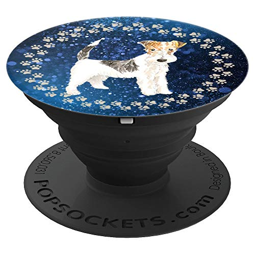 - Cute Wire Haired Fox Terrier Artistic Gift for Dog Lover - PopSockets Grip and Stand for Phones and Tablets