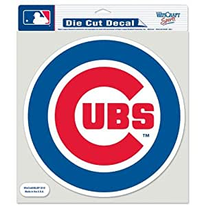 """Chicago Cubs Die-Cut Decal - 8""""x8"""" Color Round"""