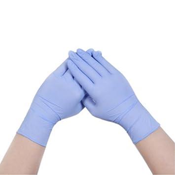 Guantes de nitrilo, grado médico, sin polvo, látex libre de goma, desechables