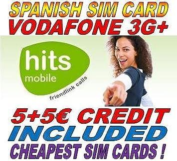 Tarjeta prepago Hits mobile hasta 10 Euros en saldo: Amazon.es ...