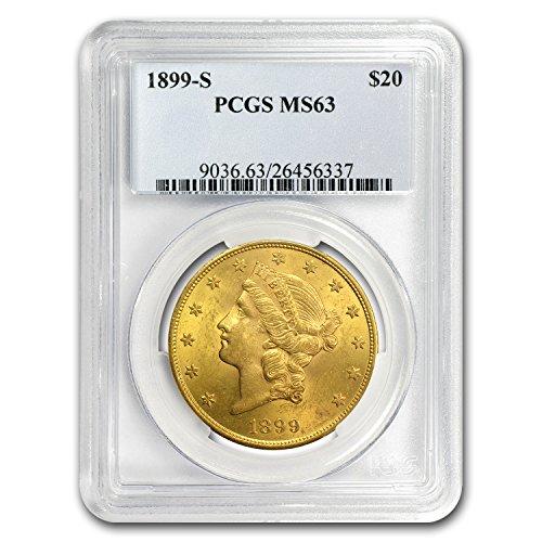1899 S $20 Liberty Gold Double Eagle MS-63 PCGS G$20 MS-63 PCGS